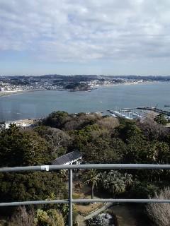 江ノ島展望台から鎌倉方面を望む